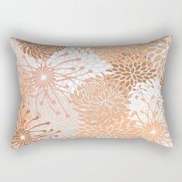 Floral Prints, Blush and Terracotta, Coloured Prints Rectangular Pillow