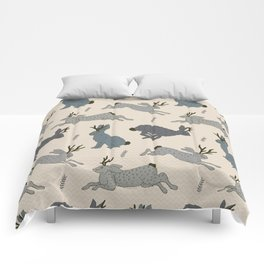 Jackalope Snow Parade Comforters