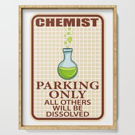 Chemist parking only violators will be disolved Chemist Gift Serving Tray