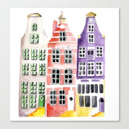 Amsterdam houses Canvas Print