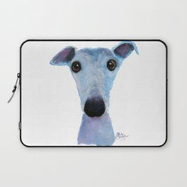 Nosey Dog Whippet Greyhound ' BLUEBELL ' by Shirley MacArthur Laptop Sleeve