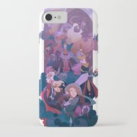 boss iPhone & iPod Cases featuring Boss Battle by Ann Marcellino
