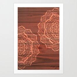 Wood Panel Mandalas Art Print