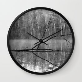 Black and White Reflections over Bluegill Bond Wall Clock