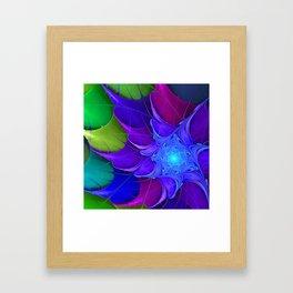 Artistic fractal abstract colour wheel Framed Art Print