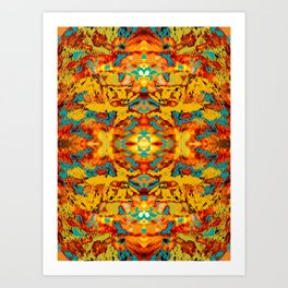 Abstract Fur Kaleidoscope Art Print