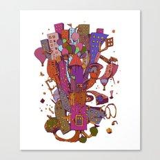 Litle city Canvas Print