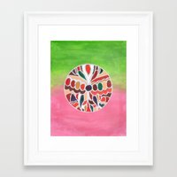 indonesia Framed Art Prints featuring Indonesia by Beegy Green
