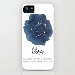 Libra Constellation Zodiac Print iPhone Case