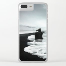 Black Sand beaches in Iceland Clear iPhone Case