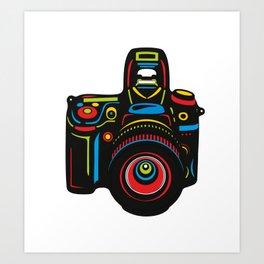 Black Camera Art Print
