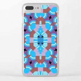 blue sleep Clear iPhone Case