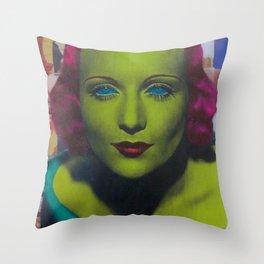 Carole Lombard Throw Pillow