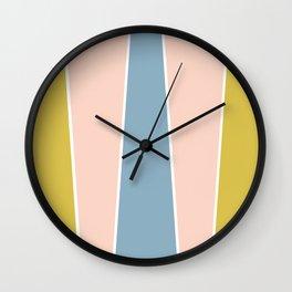 Retro Spring Color Block Wall Clock