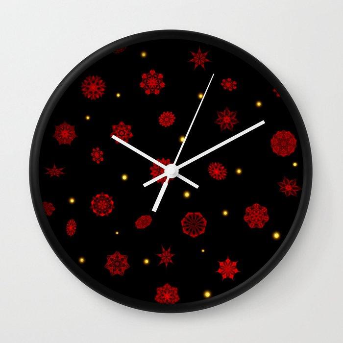 Fire in the Night Wall Clock