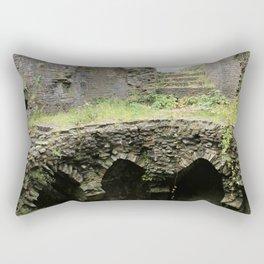 Caerphilly Castle Ruins Rectangular Pillow