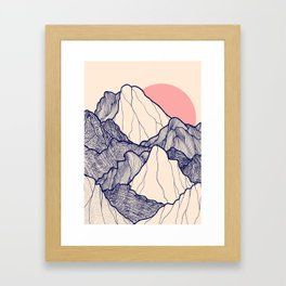 The calm morning mountains Framed Art Print