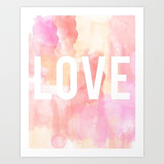 Brushed Love Art Print