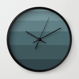Grey - blue plaid Wall Clock