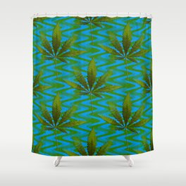 Happiness down stream... Shower Curtain