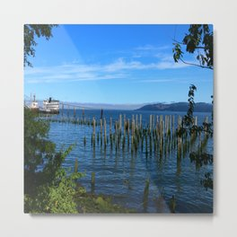 Columbia River Scene Metal Print