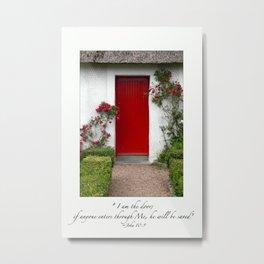 I Am The Door  (Red Door) Ireland Metal Print
