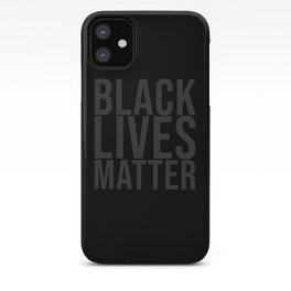 Black Lives Matter grey iPhone Case
