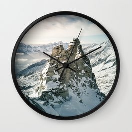 Mountain Winter Panorama Wall Clock