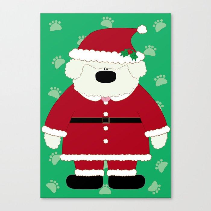 Doggy Santa Canvas Print