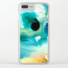 Peaceful Understanding - Abstract Art By Sharon Cummings Clear iPhone Case