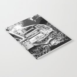 Black And White Basketball Art Notebook