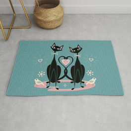 Vintage Kitty Love ©studioxtine Rug
