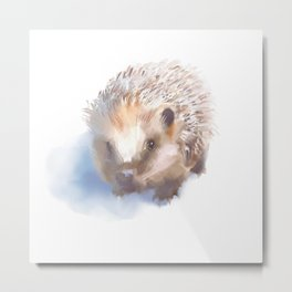 Hedgehog is cute. That is all. Metal Print