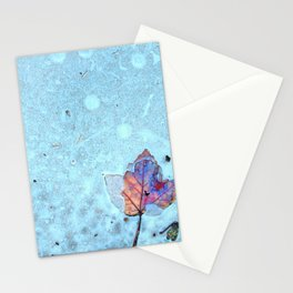 Leaf In Ice Stationery Cards