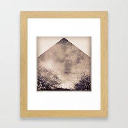 trees squared Framed Art Print