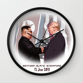 Trump Kim Summit Wall Clock