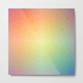 Rainbow Low Poly Metal Print