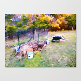 Compost in the garden Canvas Print