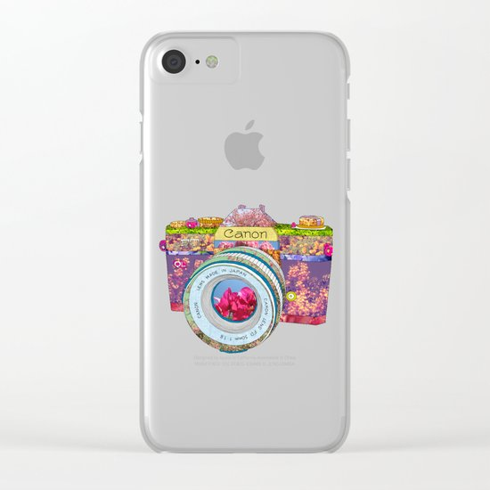 FLORAL CAN0N Clear iPhone Case