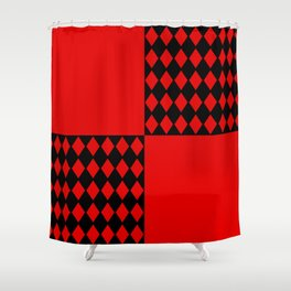 Chaotic Evil Harlequin Shower Curtain