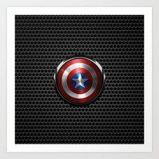 Captain Roger Shield Art Print