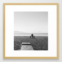 The sea and the men Framed Art Print