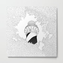 St Augustine Lighthouse - Line Art Metal Print