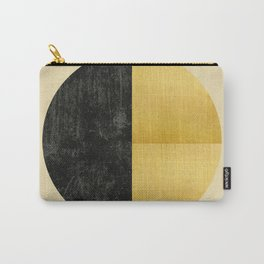 Black and Gold Circle 03 Carry-All Pouch