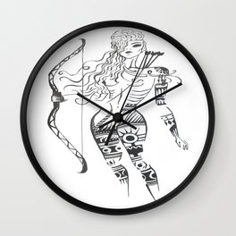 Amazonian spirit Wall Clock