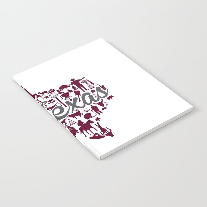 texas a m landmark state maroon and gray texas a m theme notebook