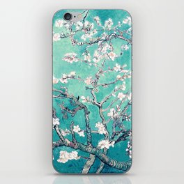 Vincent Van Gogh Almond Blossoms Turquoise iPhone Skin