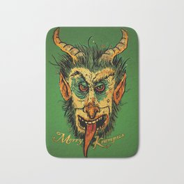 Merry Krampus Bath Mat
