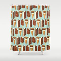 Ice Cream Pattern - Popsicles Shower Curtain