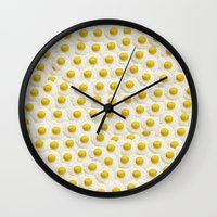eggs Wall Clocks featuring Eggs by Tyler Spangler